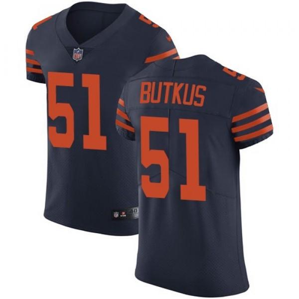 Nike Bears #51 Dick Butkus Navy Blue Alternate Men's Stitched NFL Vapor Untouchable Elite Jersey
