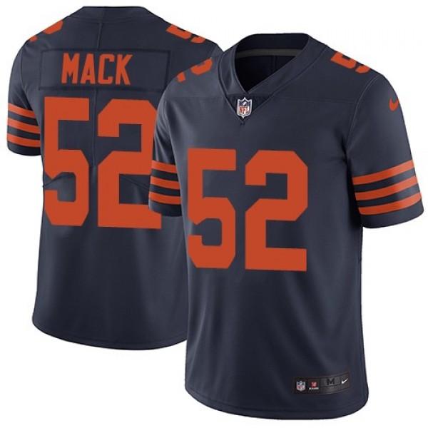 Nike Bears #52 Khalil Mack Navy Blue Alternate Men's Stitched NFL Vapor Untouchable Limited Jersey