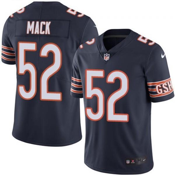 Nike Bears #52 Khalil Mack Navy Blue Team Color Men's Stitched NFL Vapor Untouchable Limited Jersey