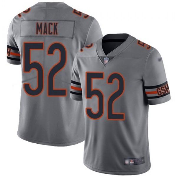 Nike Bears #52 Khalil Mack Silver Men's Stitched NFL Limited Inverted Legend Jersey