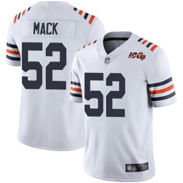 Nike Bears #52 Khalil Mack White Alternate Men's Stitched NFL Vapor Untouchable Limited 100th Season Jersey