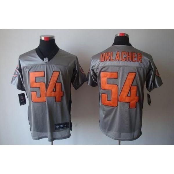 Nike Bears #54 Brian Urlacher Grey Shadow Men's Stitched NFL Elite Jersey