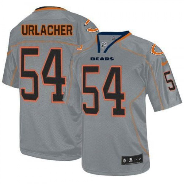 Nike Bears #54 Brian Urlacher Lights Out Grey Men's Stitched NFL Elite Jersey