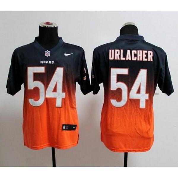 Nike Bears #54 Brian Urlacher Navy Blue/Orange Men's Stitched NFL Elite Fadeaway Fashion Jersey