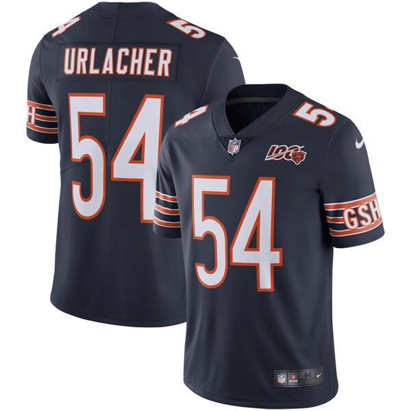 Nike Bears #54 Brian Urlacher Navy Blue Team Color Men's 100th Season Retired Stitched NFL Vapor Untouchable Limited Jersey