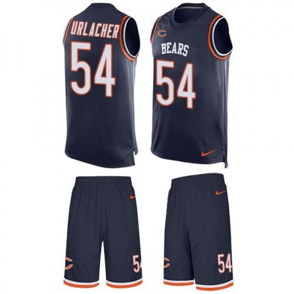 Nike Bears #54 Brian Urlacher Navy Blue Team Color Men's Stitched NFL Limited Tank Top Suit Jersey