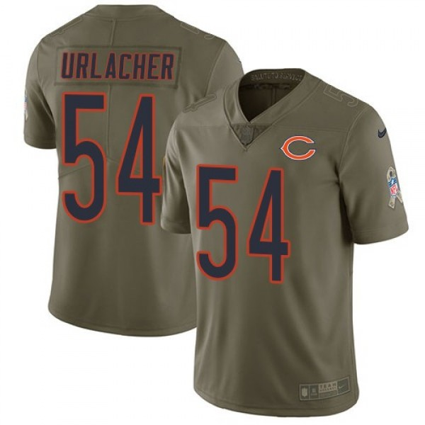 Nike Bears #54 Brian Urlacher Olive Men's Stitched NFL Limited 2017 Salute To Service Jersey