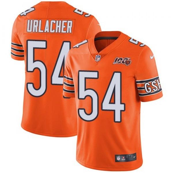 Nike Bears #54 Brian Urlacher Orange Men's 100th Season Retired Stitched NFL Limited Rush Jersey