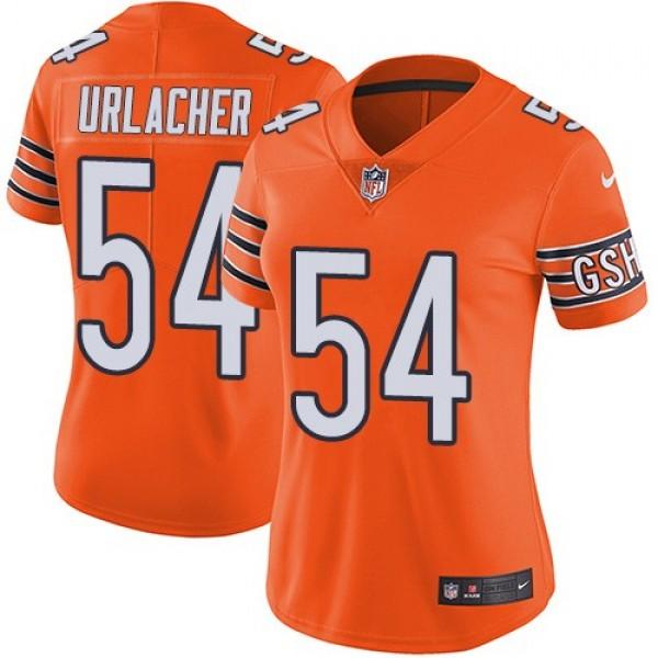 Women's Bears #54 Brian Urlacher Orange Stitched NFL Limited Rush Jersey