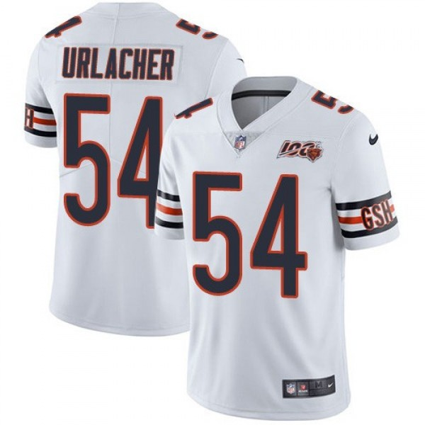 Nike Bears #54 Brian Urlacher White Men's 100th Season Retired Stitched NFL Vapor Untouchable Limited Jersey