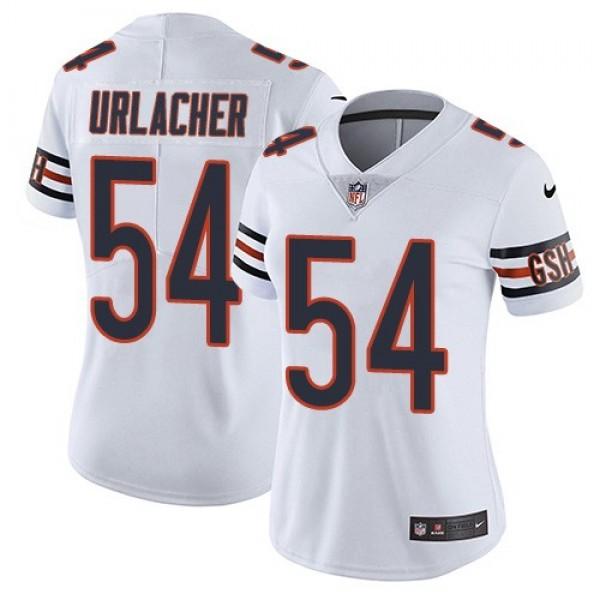 Women's Bears #54 Brian Urlacher White Stitched NFL Vapor Untouchable Limited Jersey