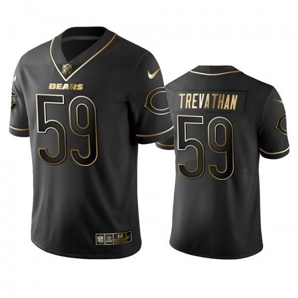 Nike Bears #59 Danny Trevathan Black Golden Limited Edition Stitched NFL Jersey