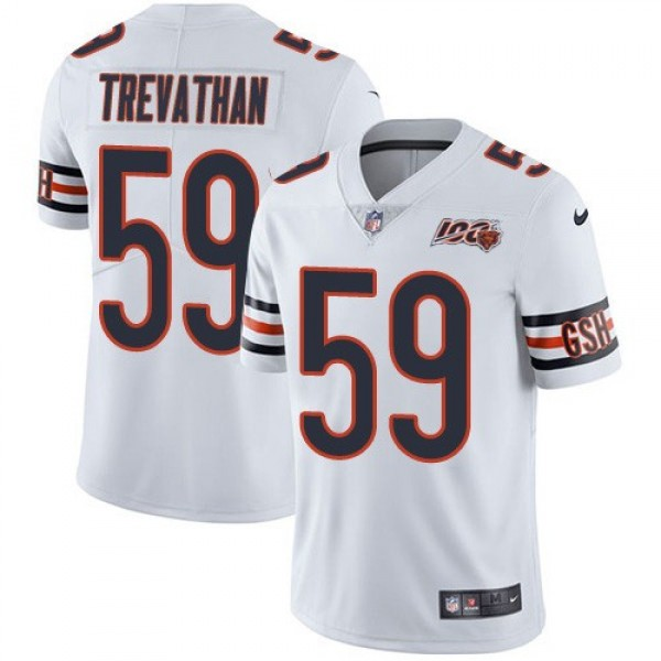 Nike Bears #59 Danny Trevathan White Men's 100th Season Stitched NFL Vapor Untouchable Limited Jersey