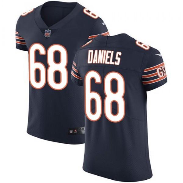 Nike Bears #68 James Daniels Navy Blue Team Color Men's Stitched NFL Vapor Untouchable Elite Jersey
