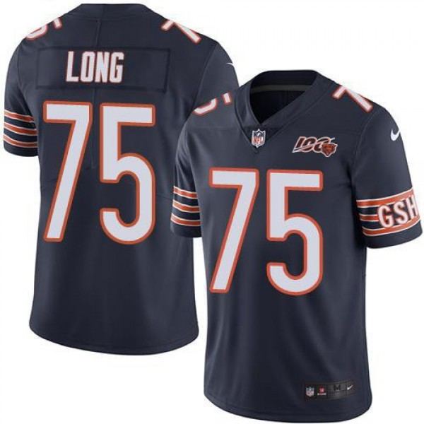 Nike Bears #75 Kyle Long Navy Blue Team Color Men's 100th Season Stitched NFL Vapor Untouchable Limited Jersey