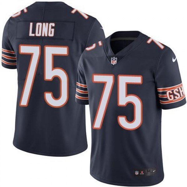 Nike Bears #75 Kyle Long Navy Blue Team Color Men's Stitched NFL Vapor Untouchable Limited Jersey