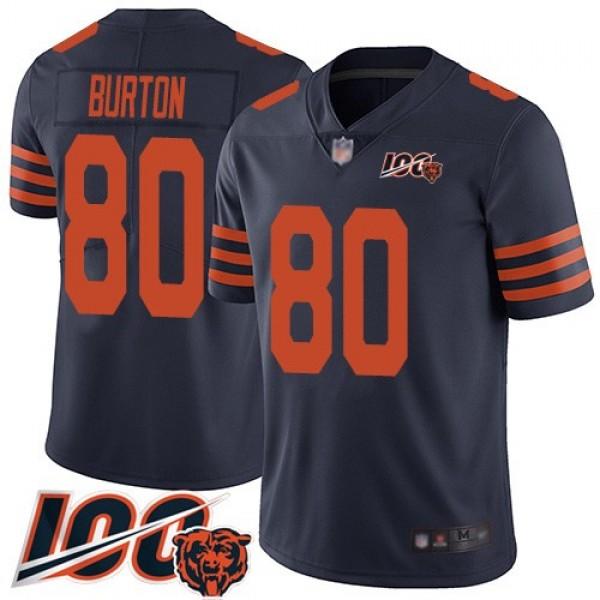 Nike Bears #80 Trey Burton Navy Blue Alternate Men's Stitched NFL 100th Season Vapor Limited Jersey