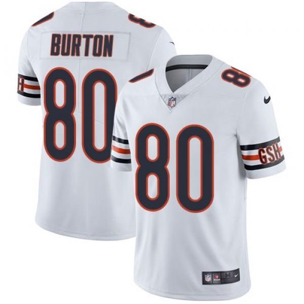 Nike Bears #80 Trey Burton White Men's Stitched NFL Vapor Untouchable Limited Jersey