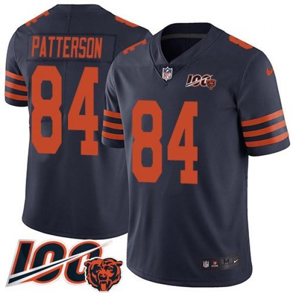 Nike Bears #84 Cordarrelle Patterson Navy Blue Alternate Men's Stitched NFL 100th Season Vapor Untouchable Limited Jersey
