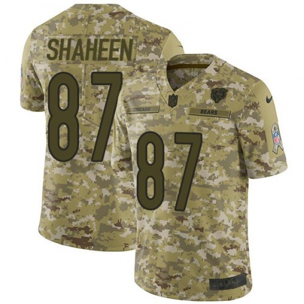 Nike Bears #87 Adam Shaheen Camo Men's Stitched NFL Limited 2018 Salute To Service Jersey