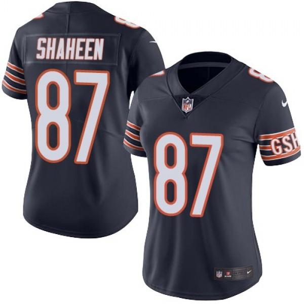 Women's Bears #87 Adam Shaheen Navy Blue Team Color Stitched NFL Vapor Untouchable Limited Jersey