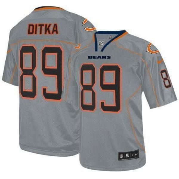 Nike Bears #89 Mike Ditka Lights Out Grey Men's Stitched NFL Elite Jersey