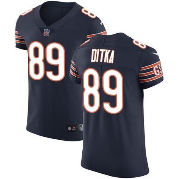 Nike Bears #89 Mike Ditka Navy Blue Team Color Men's Stitched NFL Vapor Untouchable Elite Jersey
