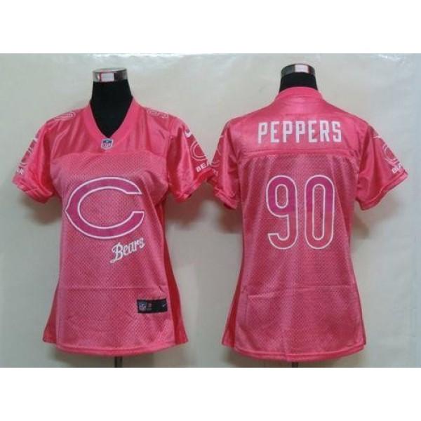 Women's Bears #90 Julius Peppers Pink Fem Fan NFL Game Jersey