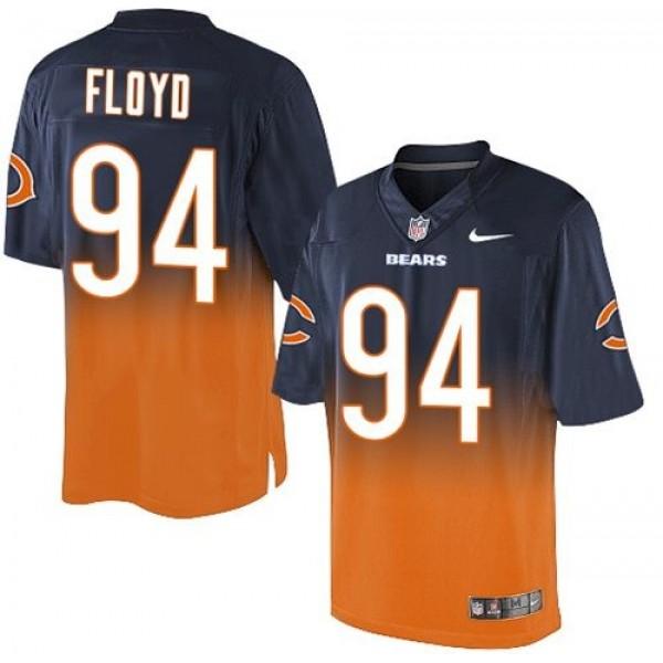 Nike Bears #94 Leonard Floyd Navy Blue/Orange Men's Stitched NFL Elite Fadeaway Fashion Jersey