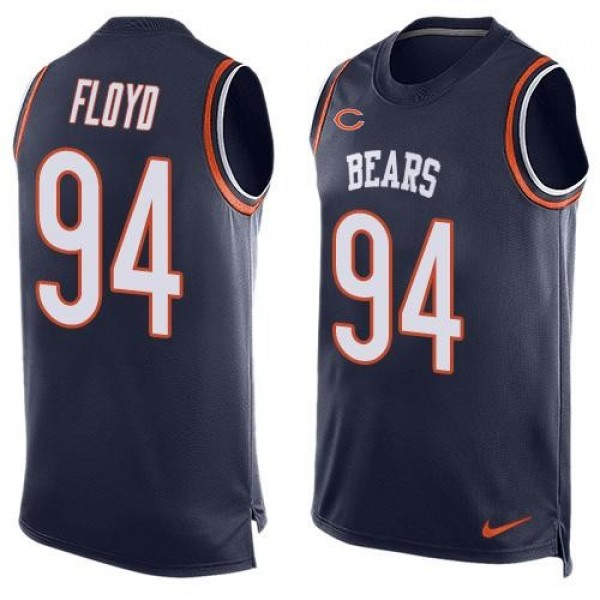 Nike Bears #94 Leonard Floyd Navy Blue Team Color Men's Stitched NFL Limited Tank Top Jersey