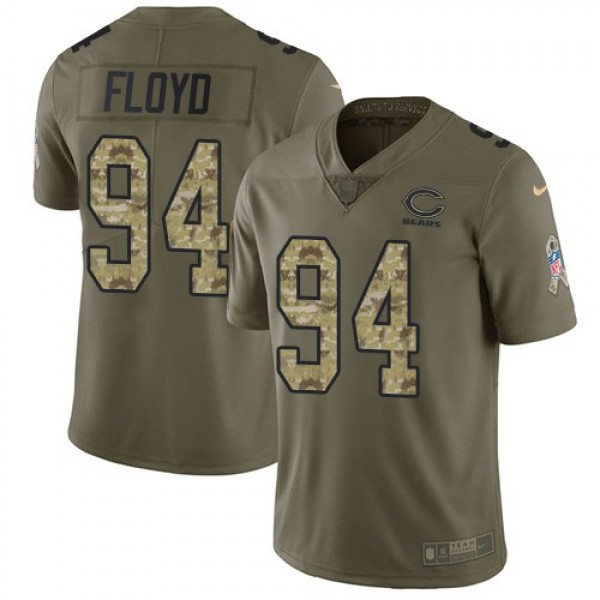 Nike Bears #94 Leonard Floyd Olive/Camo Men's Stitched NFL Limited 2017 Salute To Service Jersey