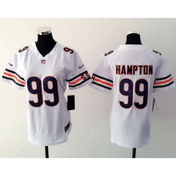 Women's Bears #99 Dan Hampton White Stitched NFL Elite Jersey