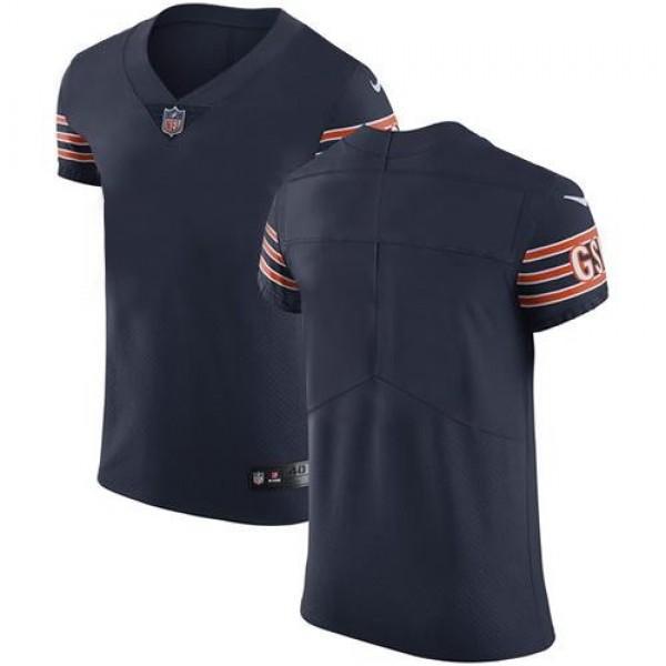 Nike Bears Blank Navy Blue Team Color Men's Stitched NFL Vapor Untouchable Elite Jersey