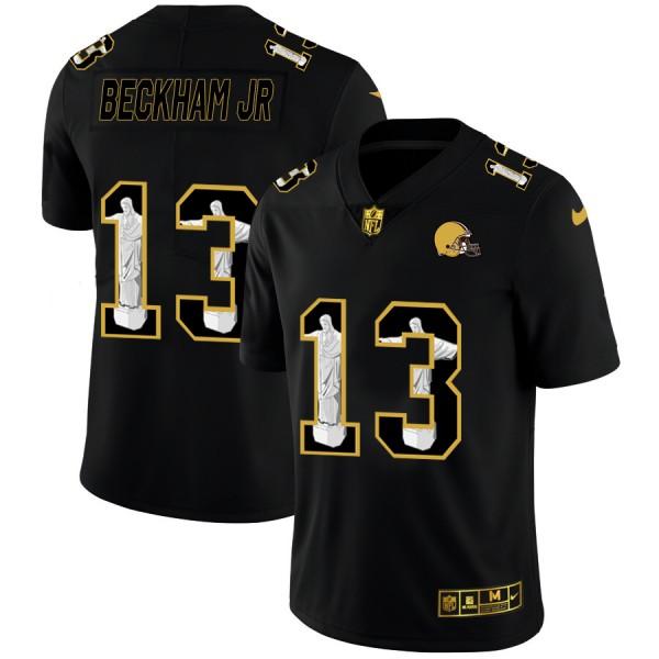 Cleveland Browns #13 Odell Beckham Jr. Men's Nike Carbon Black Vapor Cristo Redentor Limited NFL Jersey