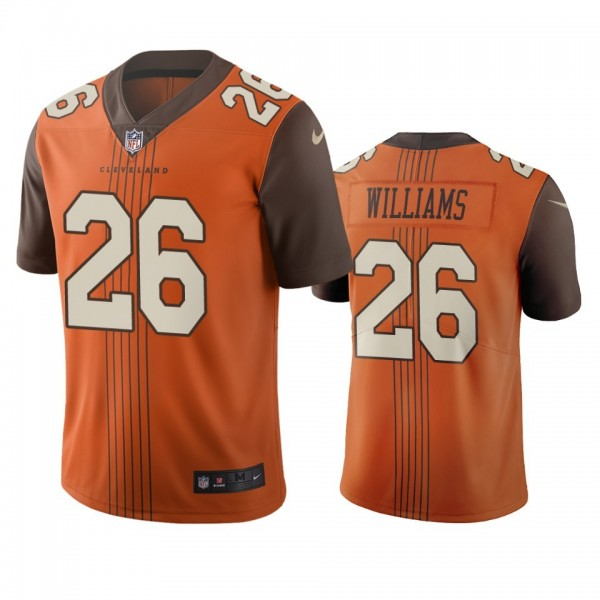Cleveland Browns #26 Greedy Williams Brown Vapor Limited City Edition NFL Jersey