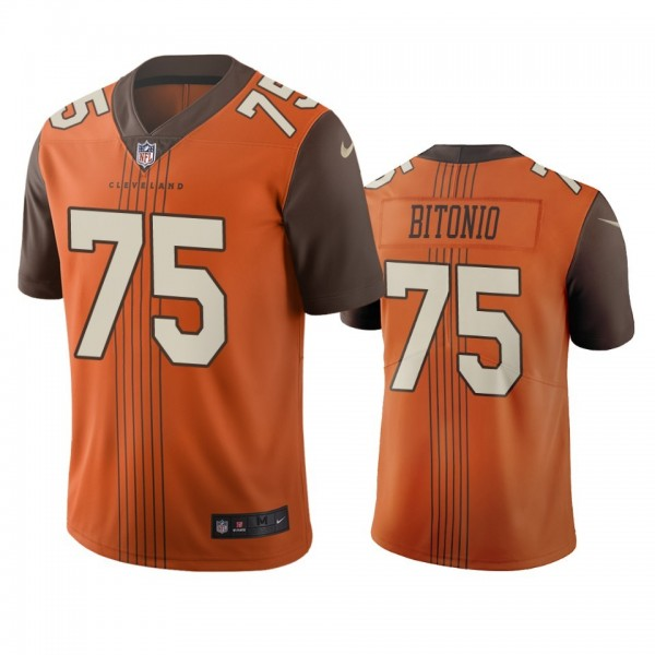 Cleveland Browns #75 Joel Bitonio Brown Vapor Limited City Edition NFL Jersey