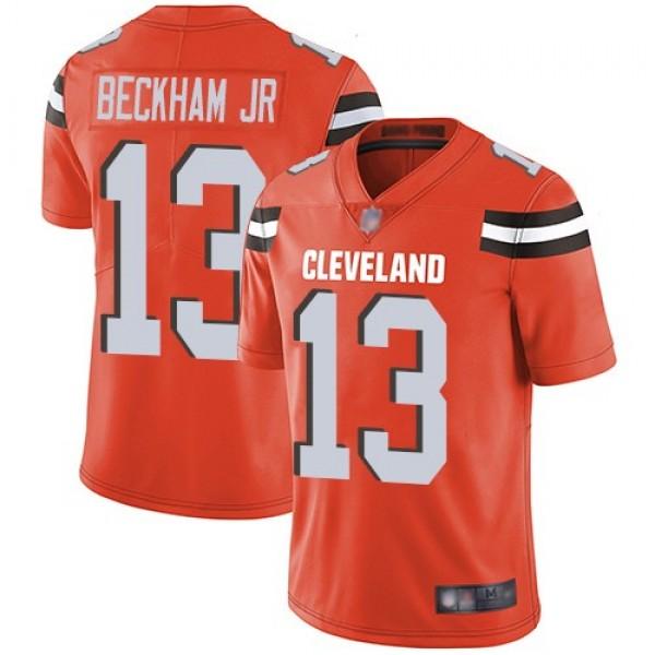 Nike Browns #13 Odell Beckham Jr Orange Alternate Men's Stitched NFL Vapor Untouchable Limited Jersey