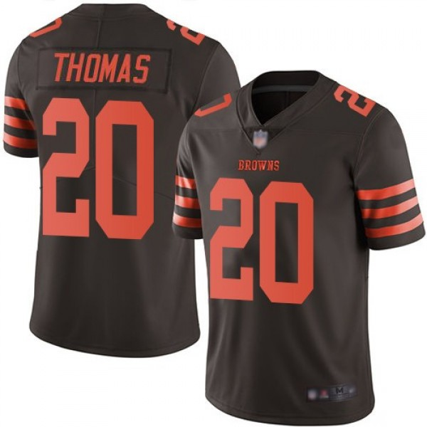 Nike Browns #20 Tavierre Thomas Brown Men's Stitched NFL Limited Rush Jersey
