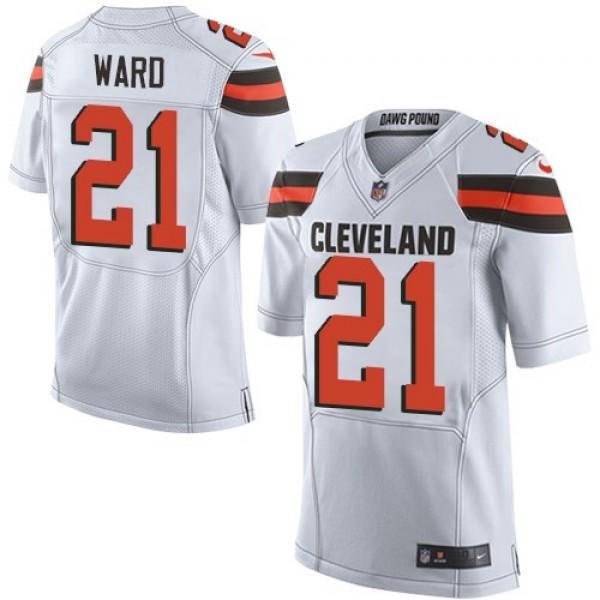 Nike Browns #21 Denzel Ward White Men's Stitched NFL Elite Jersey