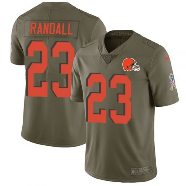 Nike Browns #23 Damarious Randall Olive Men's Stitched NFL Limited 2017 Salute To Service Jersey