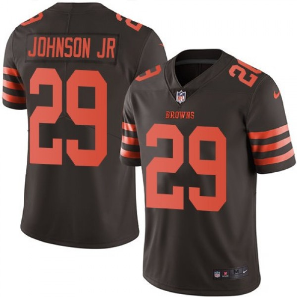 Nike Browns #29 Duke Johnson Jr Brown Men's Stitched NFL Limited Rush Jersey