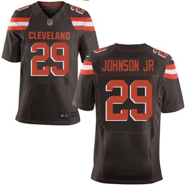 Nike Browns #29 Duke Johnson Jr Brown Team Color Men's Stitched NFL New Elite Jersey