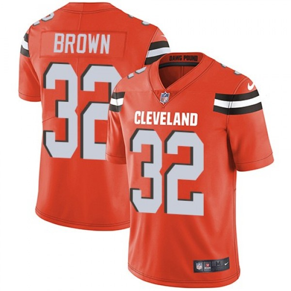 Nike Browns #32 Jim Brown Orange Alternate Men's Stitched NFL Vapor Untouchable Limited Jersey