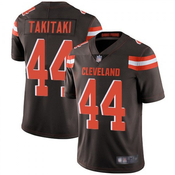 Nike Browns #44 Sione Takitaki Brown Team Color Men's Stitched NFL Vapor Untouchable Limited Jersey