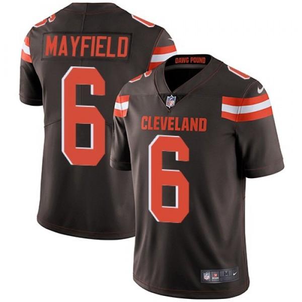 Nike Browns #6 Baker Mayfield Brown Team Color Men's Stitched NFL Vapor Untouchable Limited Jersey