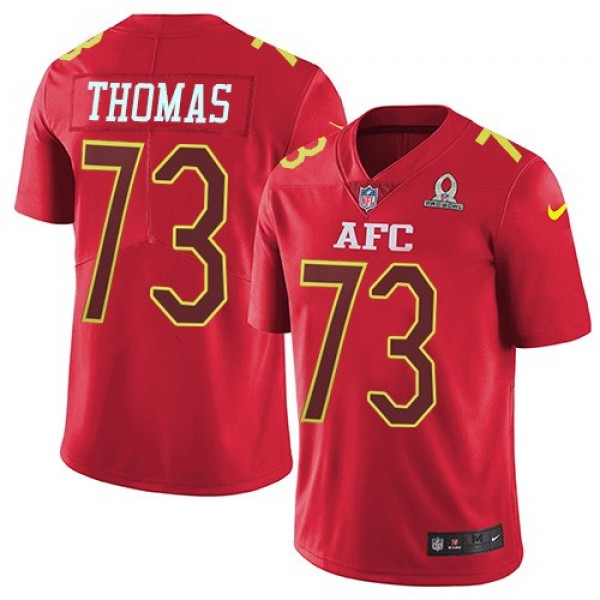 Nike Browns #73 Joe Thomas Red Men's Stitched NFL Limited AFC 2017 Pro Bowl Jersey