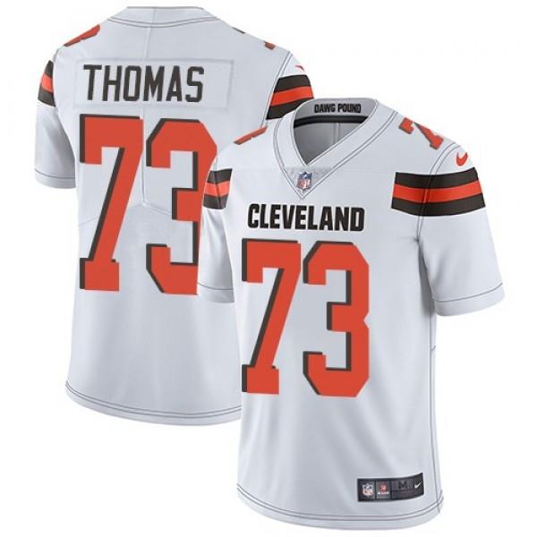 Nike Browns #73 Joe Thomas White Men's Stitched NFL Vapor Untouchable Limited Jersey