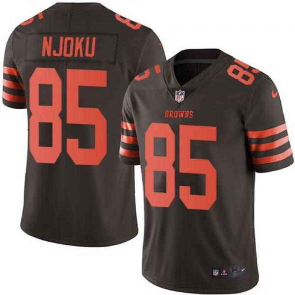 Nike Browns #85 David Njoku Brown Men's Stitched NFL Limited Rush Jersey