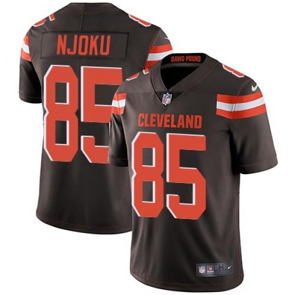 Nike Browns #85 David Njoku Brown Team Color Men's Stitched NFL Vapor Untouchable Limited Jersey