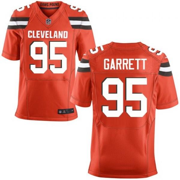 Nike Browns #95 Myles Garrett Orange Alternate Men's Stitched NFL New Elite Jersey